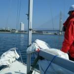 青木ヨットスクールSBD大阪コース 2012年3月 入港準備