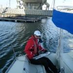 青木ヨットスクールSBD大阪コース 2012年3月 係留場所へ移動