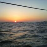 海上からの夕日