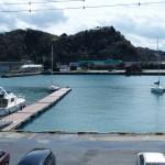 9.漁港内のこの浮き桟橋へ横付けする