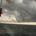 前線通過。天候が変化する前兆