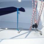 新装備のフットレールとハーネスホルダー