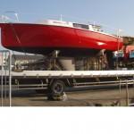 新艇・信天翁24、納艇