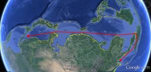 アジア大陸に沿った、帯状の海域がアジア内海