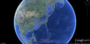 アジアの辺境に位置する日本列島