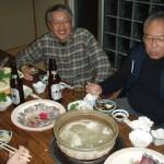 夕食時に楽しくプチ宴会