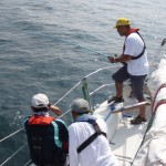 ヨットでも釣りが楽しめます