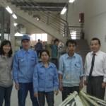 JMSハノイ工場のZen15開発チーム、青木の横が宮澤社長、左端がチームリーダーのティンさんと女性副社長のハイさん